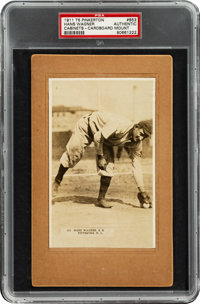 1911 T5 Pinkerton Honus Wagner #853 PSA Authentic - The Only PSA Graded Example!