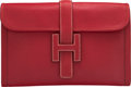 "Luxury Accessories:Bags, Hermès Vermillion Epsom Leather Jige PM Clutch. Condition: 3. 11.5"" Width x 8"" Height x 1"" Depth. ..."
