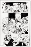 Original Comic Art:Panel Pages, Mark Bagley and Andrew Hennessy Jessica Jones #13 Complete 3 Page Epilogue and Patch Original Art (Marvel Legacy, ... (Total: 4 Original Art)