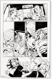 Mark Bagley and Andrew Hennessy Jessica Jones #13 Complete 3 Page Epilogue and Patch Original Art (Marvel Legacy, ... (T...