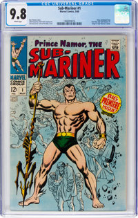 The Sub-Mariner #1 (Marvel, 1968) CGC NM/MT 9.8 White pages