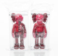Collectible:Contemporary, KAWS (b. 1974). Companion (Blush), set of two, 2016. Painted cast vinyl. 10-3/4 x 5-1/2 x 3-1/2 inches (27.3 x 14 x 8.9 ... (Total: 2 Items)