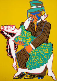 Red Grooms (b. 1937) Mango Mango, 1973 Screenprint in colors on wove paper 40-1/2 x 29 inches (10