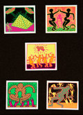 Prints & Multiples:Print, After Keith Haring . Untitled, from The Fertility Suite (five works), 1983. Offset prints in colors on card stock. 4...