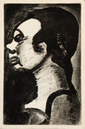 Prints & Multiples:Print, Georges Rouault (1871-1958). Hideous Woman (Femme hideuse), 1928. Etching with aquatint on wove paper. 13 x 8-1/2 inches...