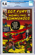 Silver Age (1956-1969):War, Sgt. Fury and His Howling Commandos #19 (Marvel, 1965) CGC NM 9.4 White pages....