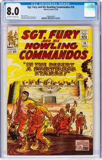 Sgt. Fury and His Howling Commandos #16 (Marvel, 1965) CGC VF 8.0 Off-white to white pages