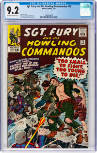Sgt. Fury and His Howling Commandos #15 (Marvel, 1965) CGC NM- 9.2 Off-white to white pages
