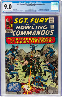 Sgt. Fury and His Howling Commandos #14 (Marvel, 1965) CGC VF/NM 9.0 Off-white to white pages