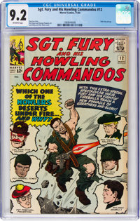 Sgt. Fury and His Howling Commandos #12 (Marvel, 1964) CGC NM- 9.2 Off-white pages