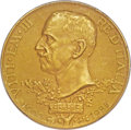 Italy:Kingdom, Italy: Vittorio Emanuele III gold 100 Lire 1925-R MS63 Matte PCGS,...