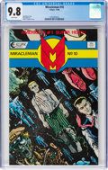 Modern Age (1980-Present):Superhero, Miracleman #10 (Eclipse, 1986) CGC NM/MT 9.8 White pages....