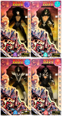 "Kiss Destroyer 24"" Figures Complete Set of 4 (Art-Asylum/FUN4ALL/Spencer Gifts, 1998).... (Total: 4 Items)"