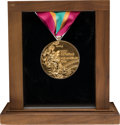 Miscellaneous Collectibles:General, 1984 Los Angeles Summer Olympic Games Salesman's Sample Gold Medal. ...