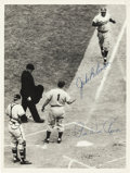 Baseball Collectibles:Photos, 1960's Jackie Robinson & Pee Wee Reese Signed Photograph. ...