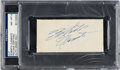 Autographs:Index Cards, 1960's Roberto Clemente Cut Signature, PSA/DNA NM-MT 8.