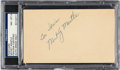 "Autographs:Others, 1951 Mickey Mantle Signed Government Postcard with ""Commer..."