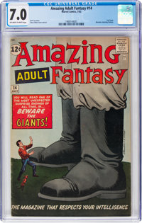 Amazing Adult Fantasy #14 (Marvel, 1962) CGC FN/VF 7.0 Off-white to white pages