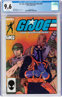 G. I. Joe, A Real American Hero #23 (Marvel, 1984) CGC NM+ 9.6 White pages