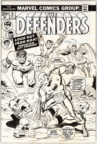 Sal Buscema The Defenders #9 Cover Original Art (Marvel, 1973)