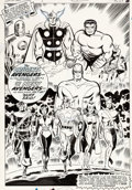 Don Heck and George Roussos The Avengers Annual #1 Internal Splash Page Original Art (Marvel, 1967)