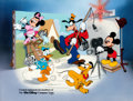 """Animation Art:Seriograph, """"Fab Five"""" Mickey Mouse and Friends Sericel (Walt Disney, c. 1990s). . ..."""