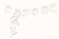 Dr. Seuss' How the Grinch Stole Christmas Grinch Animation Drawing (MGM, 1966)