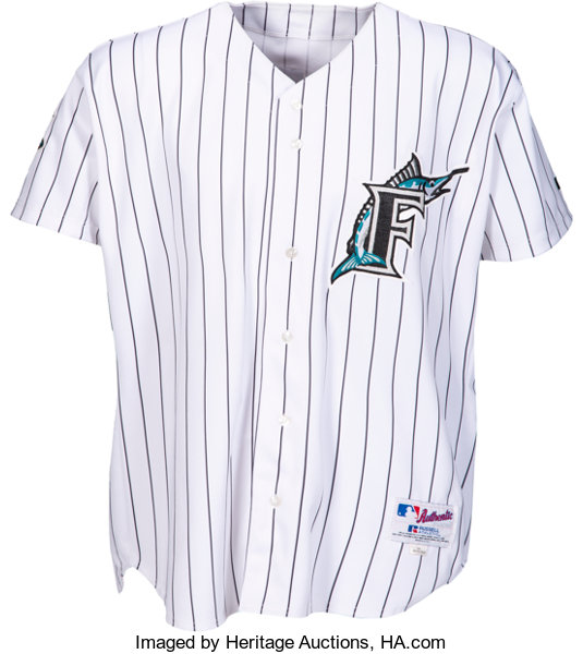 new product c5929 3b21c 2003 Miguel Cabrera Game Worn Florida Marlins Rookie Jersey ...