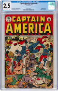 Golden Age (1938-1955):Superhero, Captain America Comics #46 (Timely, 1945) CGC GD+ 2.5 Off-white to white pages....