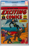 Golden Age (1938-1955):Superhero, Exciting Comics #19 Mile High Pedigree (Nedor, 1942) CGC NM 9.4 Off-white to white pages....
