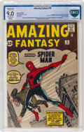 Silver Age (1956-1969):Superhero, Amazing Fantasy #15 Trimmed (Marvel, 1962) CBCS Restored VF/NM 9.0Slight to Moderate (A) Off-white to white pages......
