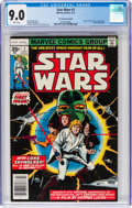 Bronze Age (1970-1979):Science Fiction, Star Wars #1 35-Cent Price Variant (Marvel, 1977) CGC VF/NM 9.0 White pages....