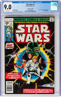 Star Wars #1 35-Cent Price Variant (Marvel, 1977) CGC VF/NM 9.0 White pages
