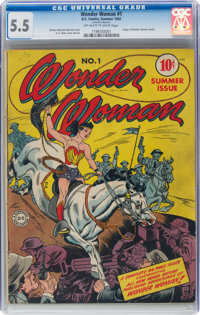 Wonder Woman #1 (DC, 1942) CGC FN- 5.5 Off-white to white pages