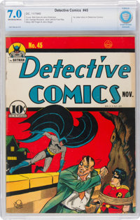 Detective Comics #45 (DC, 1940) CBCS FN/VF 7.0 Off-white to white pages