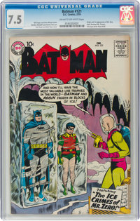 Batman #121 (DC, 1959) CGC VF- 7.5 Cream to off-white pages