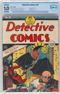 Detective Comics #29 Incomplete (DC, 1939) CBCS Restored FR 1.0 Moderate to Extensive (A) Off-white pages