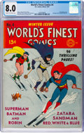 Golden Age (1938-1955):Superhero, World's Finest Comics #4 (DC, 1941) CGC VF 8.0 Cream to off-white pages....