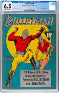 Bulletman #1 (Fawcett Publications, 1941) CGC FN+ 6.5 Off-white to white pages