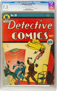 Detective Comics #39 (DC, 1940) CGC VF- 7.5 Light tan to off-white pages