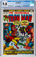Bronze Age (1970-1979):Superhero, Iron Man #55 (Marvel, 1973) CGC NM/MT 9.8 White pages....
