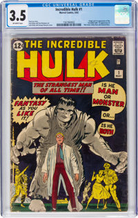 The Incredible Hulk #1 (Marvel, 1962) CGC VG- 3.5 Off-white pages