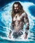Original Comic Art:Paintings, Olivia (Olivia De Berardinis) - Jason Momoa as Aquaman from Justice League Painting Original Art (2018)....