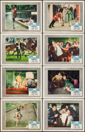 """Movie Posters:Thriller, Arabesque (Universal, 1966). Very Fine-. Lobby Card Set of 8 (11"""" X 14""""). Thriller.. ... (Total: 8 Items)"""