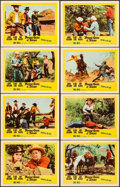 "Movie Posters:Western, Young Guns of Texas & Other Lot (20th Century Fox, 1963). Very Fine-. Lobby Card Sets of 8 (2 Sets) (11"" X 14""). Western.. ... (Total: 16 Items)"