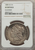 1885-CC $1 -- Cleaned -- NGC Details. XF. NGC Census: (12/10844). PCGS Population: (20/22610). CDN: $500 Whsle. Bid for...