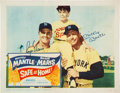 "Autographs:Others, 1962 ""Safe at Home"" Lobby Card, Signed by Mantle & Maris, PSA/DNA 10...."