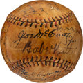 Baseball Collectibles:Balls, 1934 New York Yankees Team Signed Baseball Sourced from Walter Briggs....