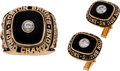 Hockey Collectibles:Others, 1969-70 Boston Bruins Stanley Cup Championship Ring & Cufflinks Presented to Team Head of Public Relations....