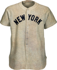 1937 Lou Gehrig Game Worn New York Yankees Jersey with Photo Matches to Two Different Home Run Games, MEARS A9 &...